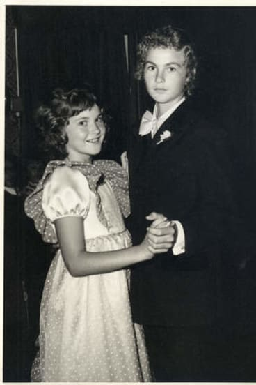 Dancing queen … Clements, aged 10, with her brother Anthony.