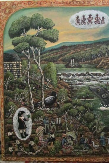 Sharon West, <i>The Heidelberg School Picnic at Dights Falls</i>, 2017.   Courtesy of the artist.