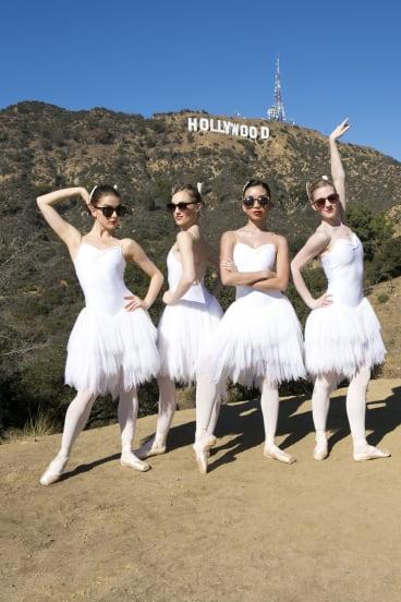 Star quality: Australian Ballet Company corps de ballet members (from left), Benedicte Bemet, Brooke Lockett, Karen Nanasca and Heidi Martin.