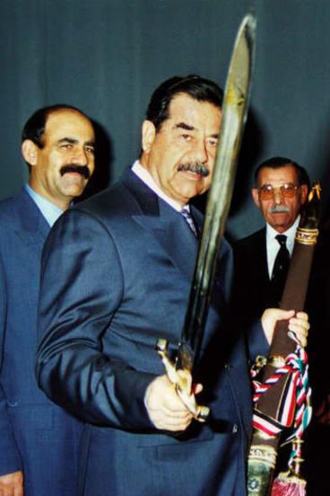Iraqi leader Saddam Hussein.
