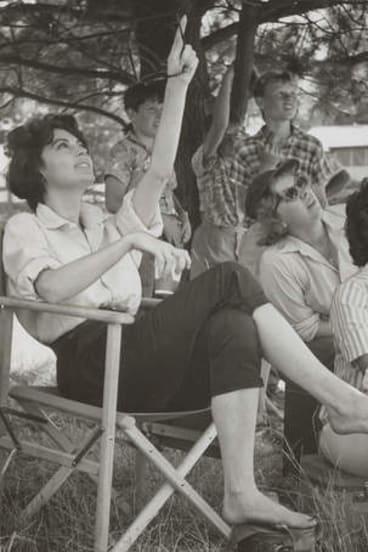Ava Gardner on set.