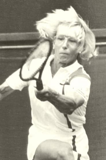 Tennis player Martina Navratilova.