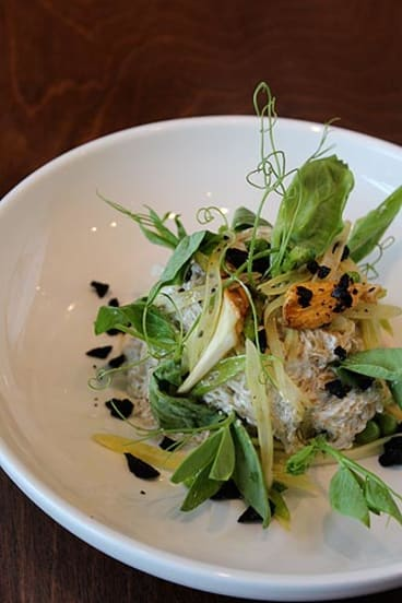 Black pepper kelp noodles features on Kenney's raw food menu.