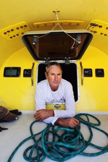 Pain: Newcastle's Ivan Macfadyen on board his yacht.