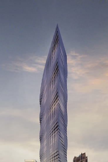 The proposed Tower Melbourne, described by campaigning councillors as a 'blight'.