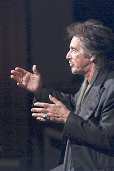 Hands on: Al Pacino addresses students from the National Institute of Dramatic Art in Kensington.