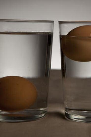 Bad eggs do float.