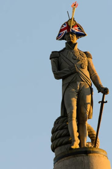 Trafalgar Square's most famous resident, Admiral Lord Nelson was given a new hat in the run-up to the London Olympics as part of an arts festival.
