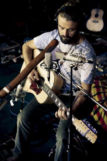 Musician Xavier Rudd records his latest album, <i>Spirit Bird</i>, with his custom-built Cole Clark guitar, a Fat Lady, 12-string acoustic.