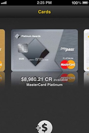 A screenshot of the CommBank Kaching app for iPhone.
