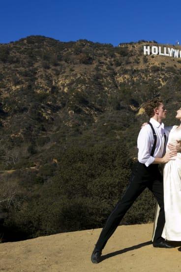 The hills are alive: Adam Bull and Amber Scott in LA.