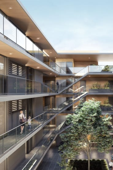 Internal designs for the proposed apartments. Belconnen Community Council chair Damien Haas said the area is experiencing a surge of development.