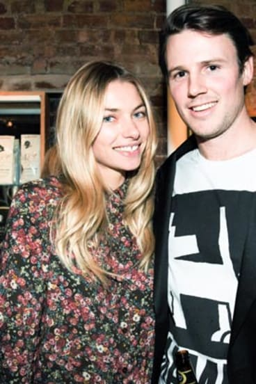 Jess Hart and Pete Maiden at the B-Space opening. Photo: Cami Zapata/BFAnyc.com