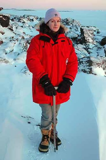 Rachael Robertson during her Antarctic expedition.