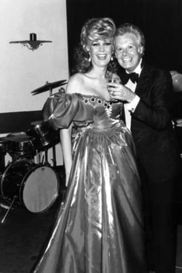 Carlotta with Danny La Rue in 1983.