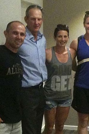 New spin ...  Dani Samuels, right,  with Hayden Knowles, Wayne Bennett and Hayley Butler.