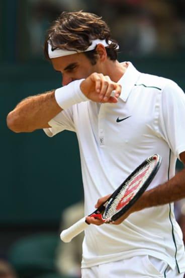 Dumped: Roger Federer last won a slam title in early 2010.