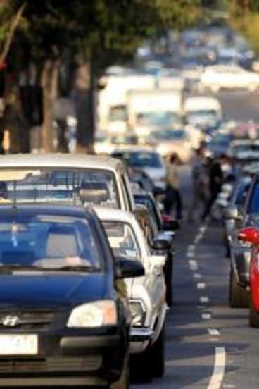 Traffic on Alexandra Parade during peak hour.