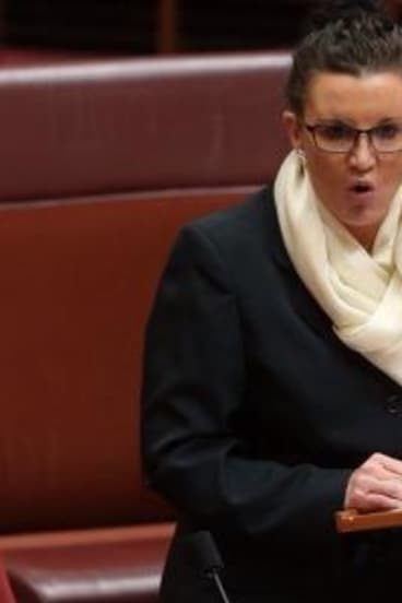 Inflammatory: Jacqui Lambie has equated sharia law to terrorism.