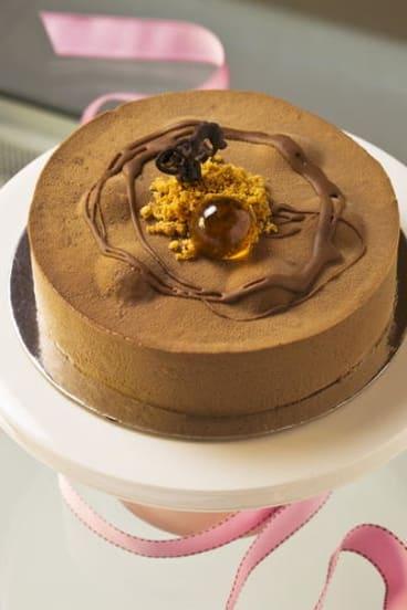 Burch & Purchese Sweet Studio's pumpkin, bacon, chocolate and pecan cake.