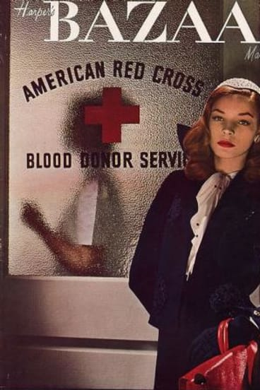 Lauren Bacall was a model before she was scouted by Howard Hawks. His wife showed the director this cover before he cast her in her first role.