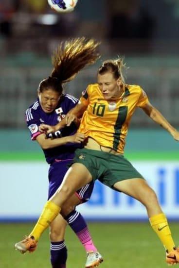 Emily Van Egmond Of Australia Battles With Sawa Homare Japan