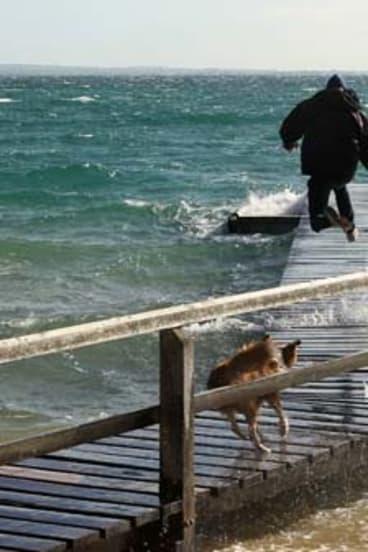 High tide at Shelley Beach.