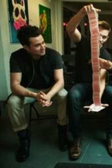 Card caper: (from left) Justin Willman, Justin Flom, James Galea and Nate Staniforth of Band of Magicians.