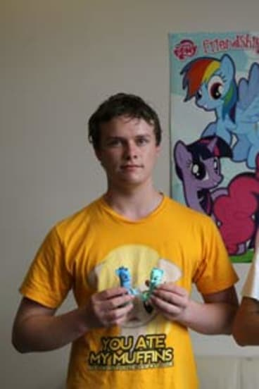 Out in the open: Daniel Fackrell and Alex Ketley became fans of the girl's toy after My Little Pony widened its appeal with an animated series.
