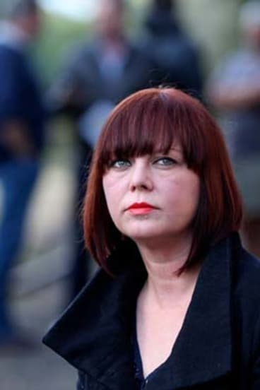 Bitter fallout … Universal Medicine critic Pippa Vickery with four men who claim the alternative group's founder and former tennis coach, Serge Benhayon ruined their marriages.