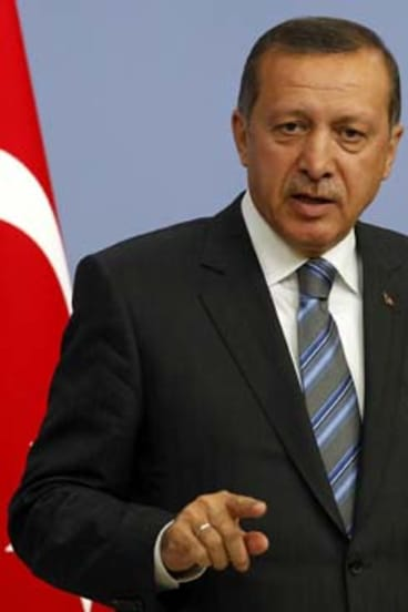 "Calling for ""international legal regulations against attacks on what people deem sacred"" ... Turkish Prime Minister Recep Tayyip Erdogan."