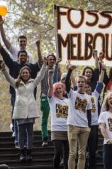 Generation game: Students at Melbourne University join the campaig for divestment.