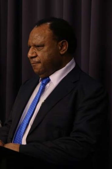 """In partnership"" with Australia: Papua New Guinea's Immigration and Foreign Affairs Minister Rimbink Pato."