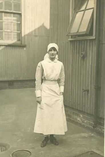 Duty calls: Vera Brittain in her Volunteer Aid Detachment uniform.