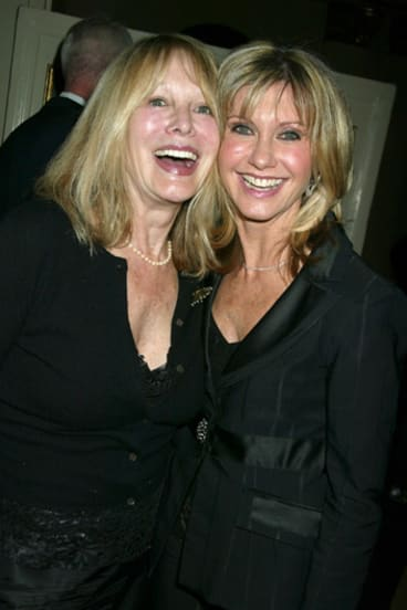 Rona Newton-John, left, with her younger sister Olivia.