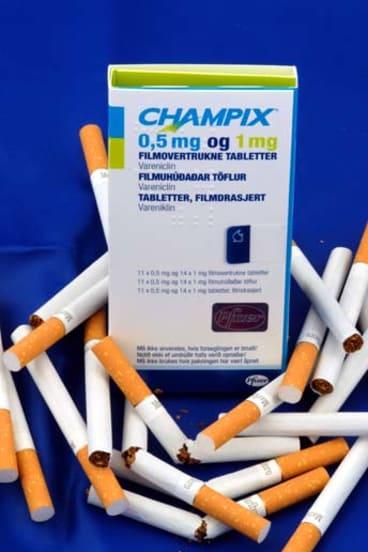 The anti-smoking drug champix.