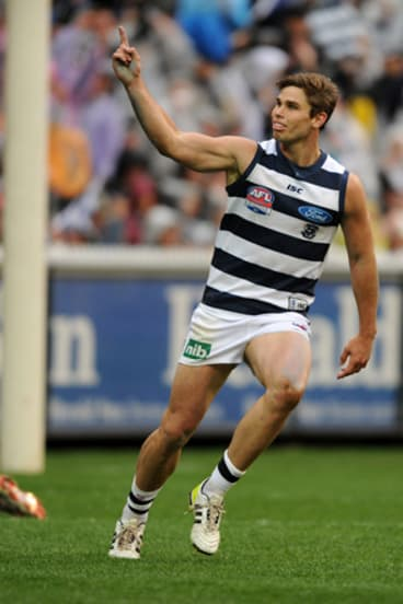On song: Tom Hawkins returns for the Cats tonight.