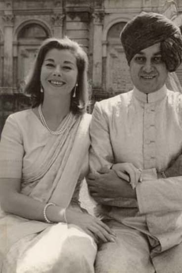 Happy couple: Their Highnesses the Maharaja and Maharajni of Cooch Behar.