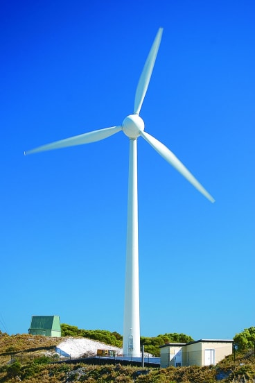 The wind turbine on Rottnest Island.