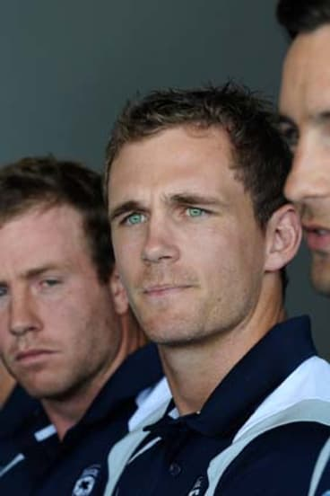 Catalyst: New Geelong skipper Joel Selwood (left) with vice-captain Jimmy Bartel at the captaincy announcement yesterday.