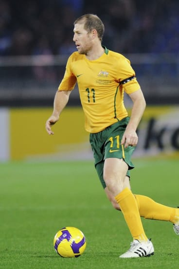 Scott Chipperfield playing for the Socceroos in 2009