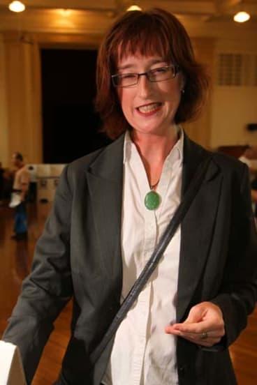 Under fire ... Marrickville Greens mayor Fiona Byrne.