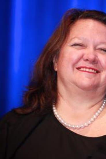Media mogul: Gina Rinehart.