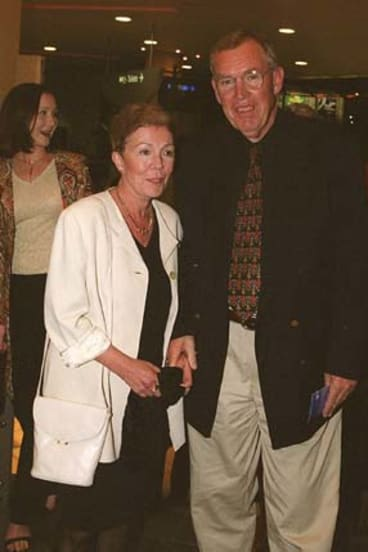 Peter Harvey with his wife Anne in 2001