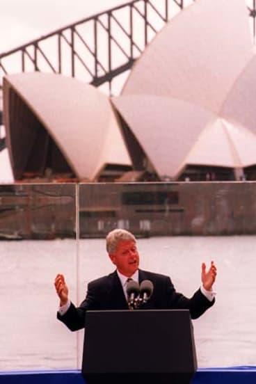 Bill Clinton ... in Sydney in 1996.