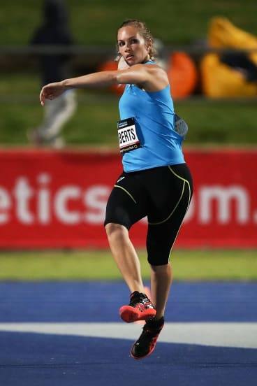 Kelsey-Lee Roberts is off to the world titles after winning the women's javelin final.