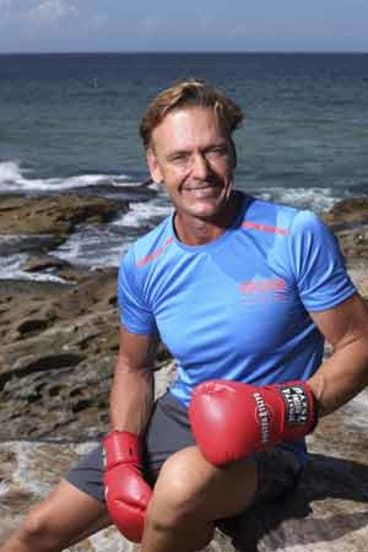 The gloves are on: Guy Leech is ready to box in the name of melanoma research.