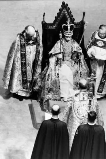 Queen Elizabeth II at her coronation on June 2, 1952.