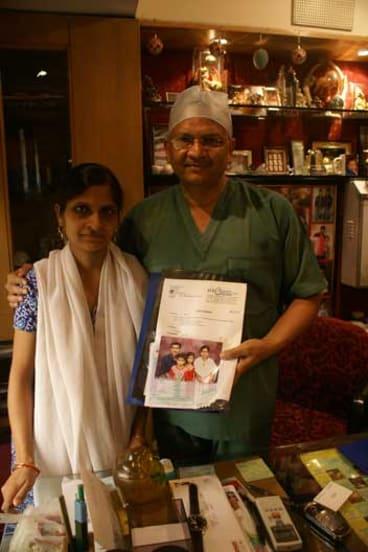 Surrogate mother Neetu Sangar with Dr Anoop Gupta.