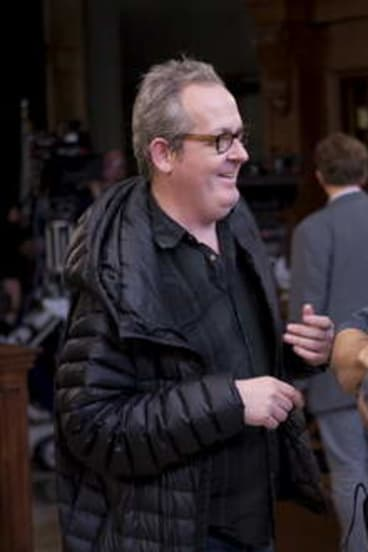 <i>Rake</i> producer Peter Duncan on set in the US.